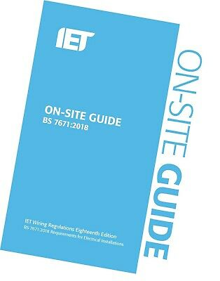 IET On Site Guide for Wiring Regulations 18th Edition 2018 BS7671 Blue Latest Ed 3
