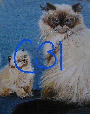 "C102  Original Acrylic Painting By Ljh    ""Tootsie""      Cat 8"