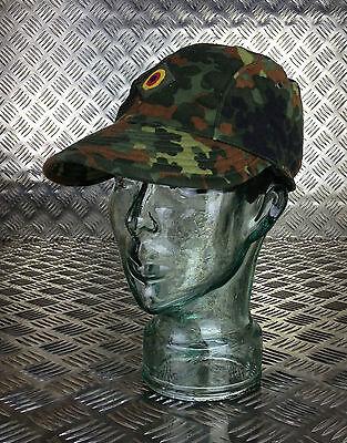 Size 58cms x 10 Hats Genuine German Army Flectarn Camouflage Peak Cap Hat