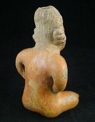 Pre-Columbian Nayarit-Chinesco Pottery Figure,red slip glaze.c.200 BC- 200 ACE 3