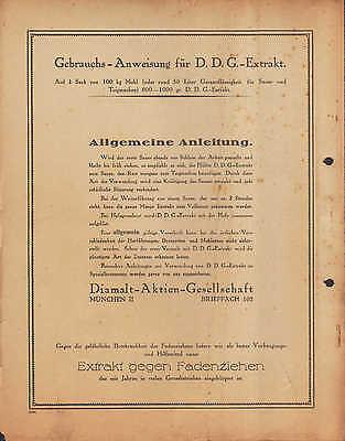 MÜNCHEN II, Prospekt 1934, Diamalt AG DDG-Extrakt Bäcker-Müller