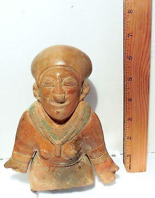 Pre Columbian Ecuador Female Fragment Authentic Jama - Coaque Pottery 3
