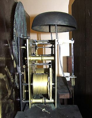 ~ Antique Mahogany Halifax Moon Longcase Grandfather Clock by Butler BOLTON 12