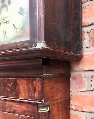 Antique Georgian Oak  Mahogany Longcase Grandfather Clock S Brill Birmingham 5