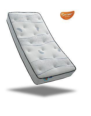 Sareer Cool Blue 1000 Pocket Sprung Memory Foam Mattress and FREE PILLOWS 3