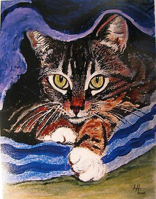 "C25     Original Acrylic Painting By Ljh     ""Javanese""       Cat Kitten 11"