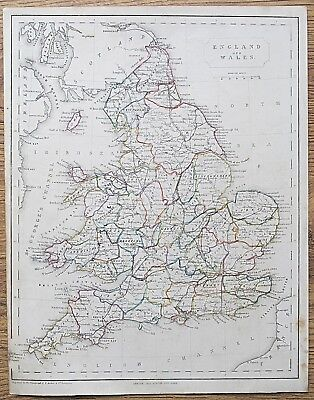 12 19th Century Great Britain England Wales Various Genuine Antique Maps 4