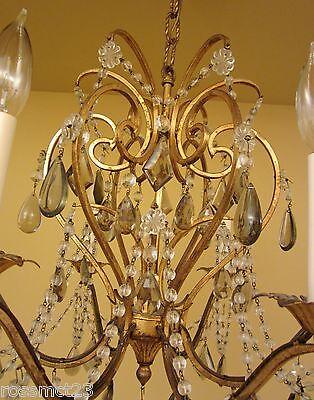Vintage Lighting antique 1960s Lightolier crystal chandelier   Stunning 5