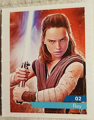 Cartes vignettes Star Wars Leclerc 2019 à l'unité stickers autocollant au choix 2