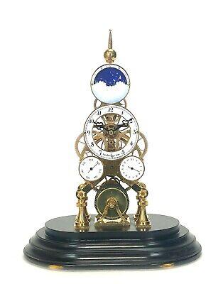 24K Vienna Style Pinwheel Moon Dial Calendar 8 Day Fusee Chain Skeleton Clock 2