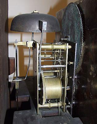 ~ Antique Mahogany Halifax Moon Longcase Grandfather Clock by Butler BOLTON 11
