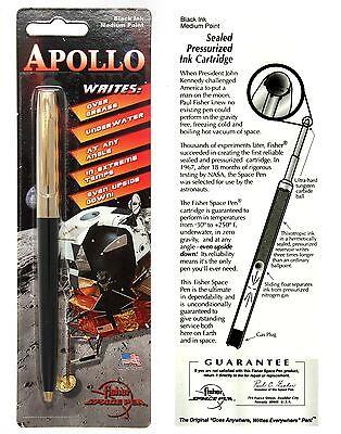Fisher Space Pen #S251G-Black / Apollo Series Pen in Black & Gold 2