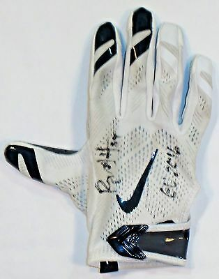 db66bbfca91 2 of 4 Ryan Griffin Houston Texans Autographed 2016 Game Used Nike Gloves  White Blue 1