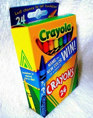 last 35/% Longer New Box of 24 Crayola Crayons with Dandelion