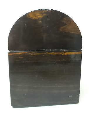 "19th C. ROSEWOOD ""ALMS"" COLLECTION BOX, BRASS TRIM & ORIGINAL KEY, c.1860-80 8"