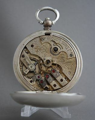 Antique Bronze Grandwizer Ahmet Muhtar Pasha Le Roy a Paris 25Rubis Pocket Watch 8