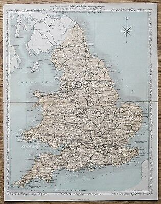 12 19th Century Great Britain England Wales Various Genuine Antique Maps 6
