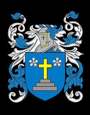 Elwes Family Crest Surname Coat Of Arms Brown Leather Keyring Engraved