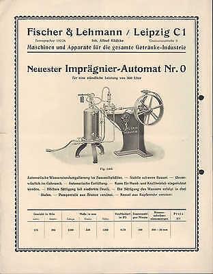 LEIPZIG Werbung 1939 Fischer & Lehmann Maschine Getränke-Industrie Imprägnier 2