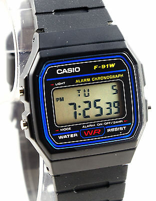 362b3ee51 ... Casio F91W-1 Digital Watch 7 Year Battery Blue Black Microlight Classic  New 4