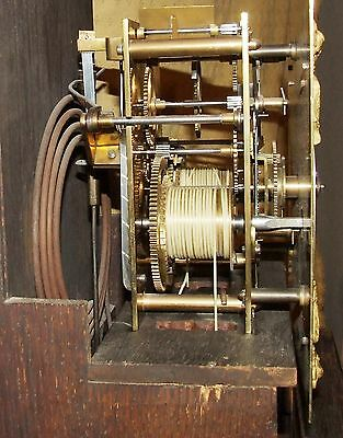 Antique 8 Day Miniature Grandfather / Grandmother Clock : Weight Driven Movement 10