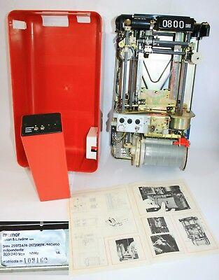 Vintage 1976 Fratelli Solari Udine Flap Clock Time Recorder New In Original Box 8