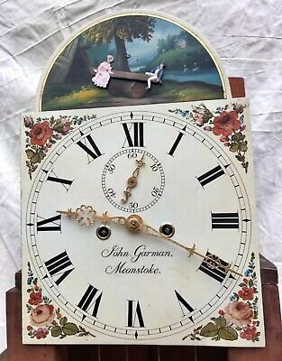 ~ Antique Mahogany ROCKING SEESAW Longcase Grandfather Clock GARMAN MEONSTOKE 10