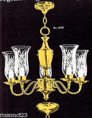 Vintage Lighting mid century 1950s chandelier by Framburg 2