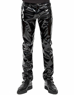 TRIPP GOTHIC PUNK ROCKER METAL MOTO BIKER SKULL EMBROIDERED JEANS PANTS IS7928M