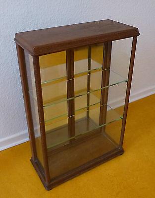Vitrine Glas Holz Verkaufsvitrine Kolonialwaren Tante Emma Laden um 1900 4