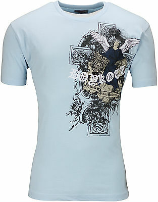New Mens Graphic Print T Shirt Biker Top Cotton Crew Neck Tee Top Summer Cotton 6