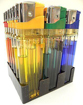 18 XXL Feuerzeuge 16,3 cm Große Elektronik Feuerzeuge Transparent JUMBO NEU 2