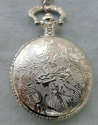 Soviet Pocket Watch Necklace Mens Clock Union USSR Moscow Vintage Putin Russia 3