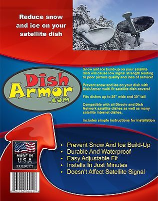 satellite dish cover reduce snow and ice on all directv and dish