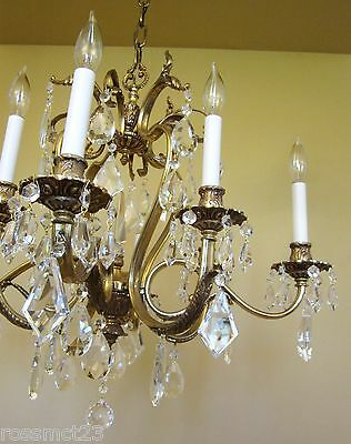 Vintage Lighting glamorous 1970s crystal chandelier by Lightolier 5