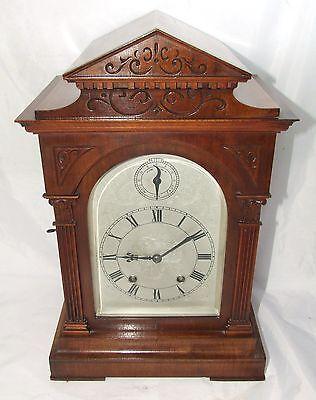 # Antique LENZKIRCH Walnut TING TANG Bracket Mantel Clock : SERVICED & WORKING 2