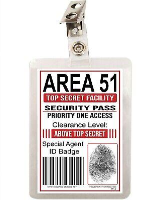 Area 51 Secret Agent Government ID Badge FBI CIA Cosplay Costume Prop A51-2 2