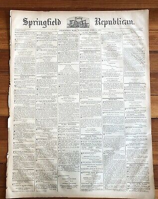10 RARE 1883 SPRINGFIELD MASSACHUSETTS newspapers w LOCAL ADVERTISING & News 10