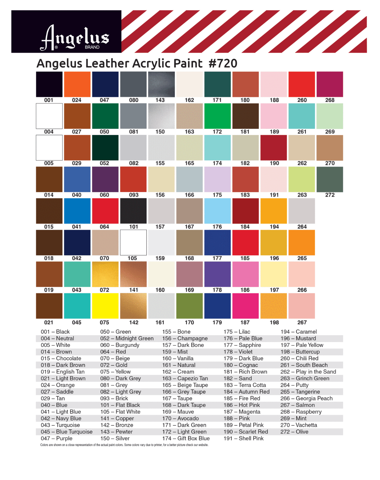 Angelus Brand Acrylic Leather & Vinyl Waterproof Paint 83 Colors! 7