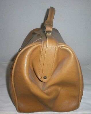 Alte Arzttasche Doktortasche Hebammentasche Hebamme Tasche Leder  Antik Vintage 3
