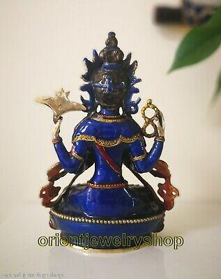 Antique Cloisonne Bronze Tara God Kwan-yin Buddha Avalokiteshvara guanyin Statue 3
