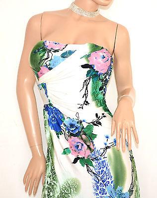 40301a75e56c ... ABITO donna LUNGO vestito BIANCO BLU VERDE ROSA bandeau elegante  cerimonia E125 2