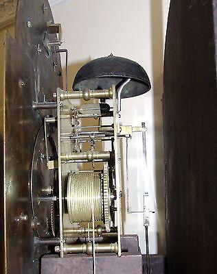 ~ RARE MONTH GOING Antique Walnut  Longcase Grandfather Clock Etherington LONDON 11