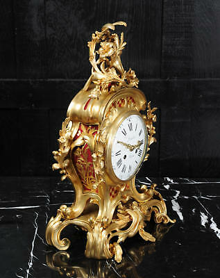 Fine Ormolu Rococo Antique French Clock By Henry Lepaute C1870 Superb Condition 7