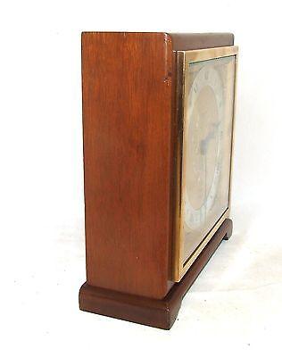 Large ELLIOTT LONDON Walnut Bracket Mantel Clock : H L BROWN & SON LTD SHEFFIELD 6