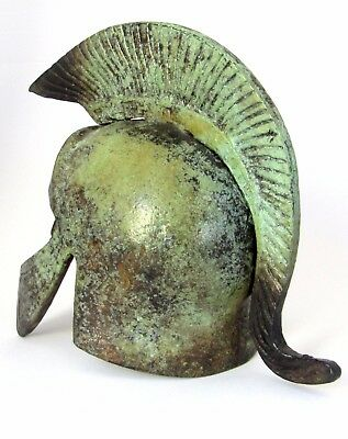 Ancient Greek Bronze Museum Replica of Trojan Helmet (1364)