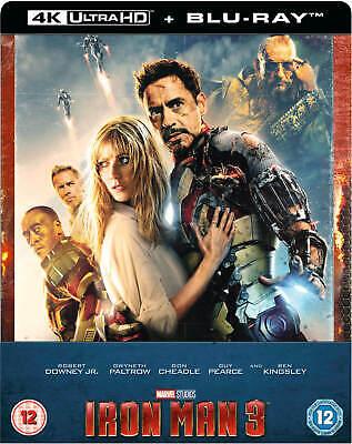 Iron Man 3 : 4K UHD + 2D Blu-ray, UK Exclusive STEELBOOK, Marvel, *In Hand Now 7