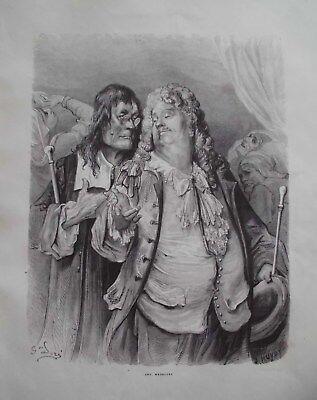 G.Dore1889/2 Blatt Holzschnitte zu LES MEDICINS:Fabeln de la Fontain.Drucksign. 2