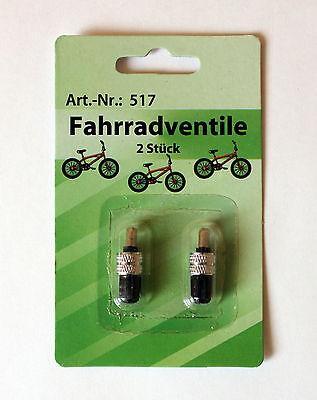 Fahrradventile je 2 Stück Fahrradventil Fahrrad Ventil Blitzventil Ventilset 517