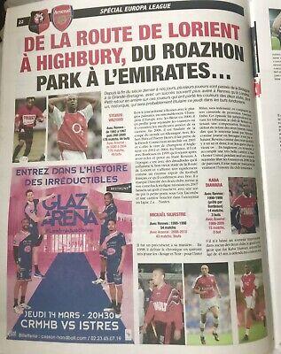 Rennes (Stade Rennais) V Arsenal 7:3/19. Europa League Programme & Sport Journal 8
